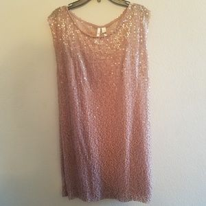NWT Lauren Conrad Pink Sequin Party Dress